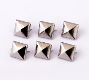 画像1: ピラミッドスタッズ(角鋲) 9mm 山低め 10000個